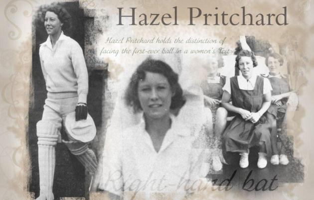Hazel Pritchard scored 87 in the first women's Test match ever played in England